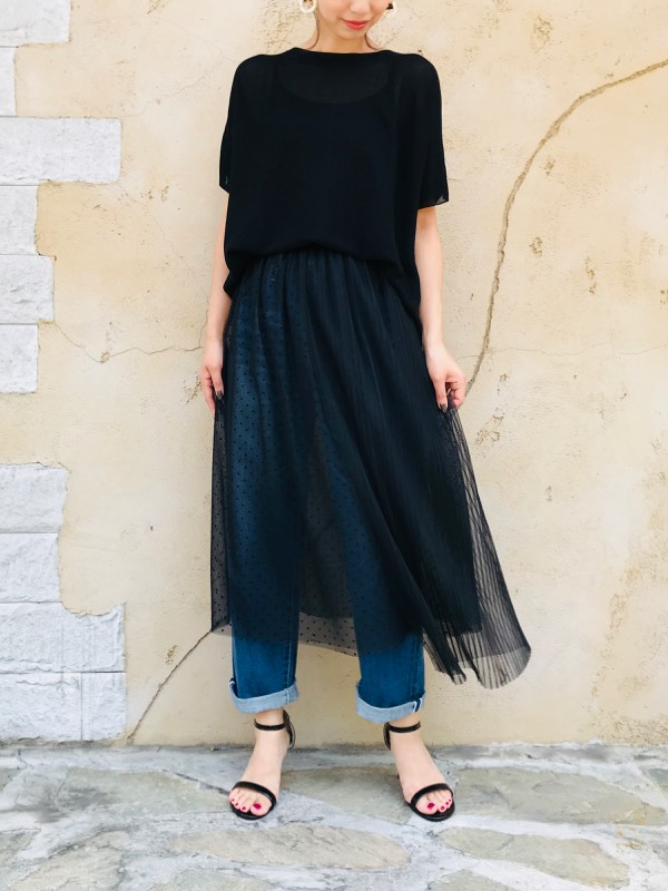 KAENE(カエン)  プリーツ巻きスカート