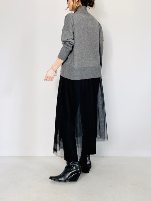 KAENE(カエン)  プリーツチュールスカート