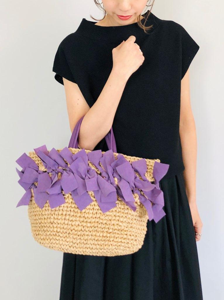 SELECT(セレクト)  カラーフリンジ手編みトートバッグ