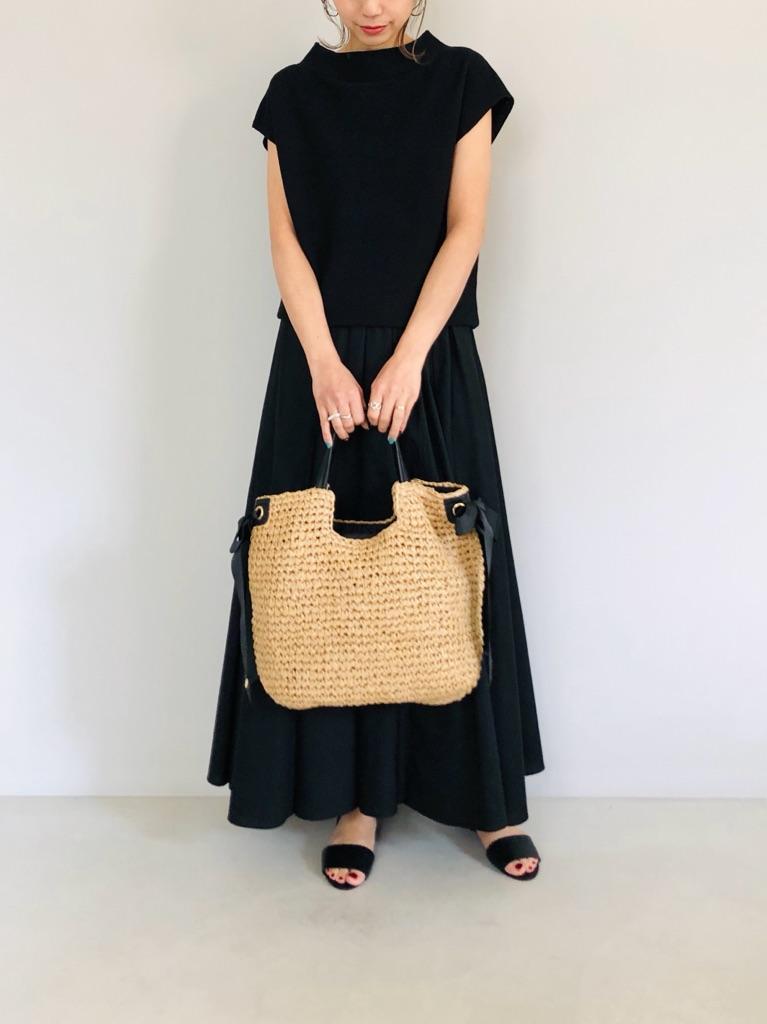 SELECT(セレクト)  サイドリボン手編みトートバッグ