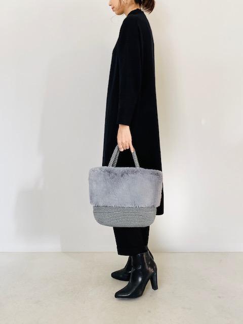 SELECT(セレクト)  エコファー付きベーシック手編みトートバッグ