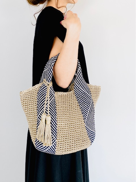 SELECT(セレクト)  コードメッシュハンドル手編みトートバッグ