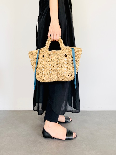 SELECT(セレクト) 松葉編みトートバッグ CAMEL