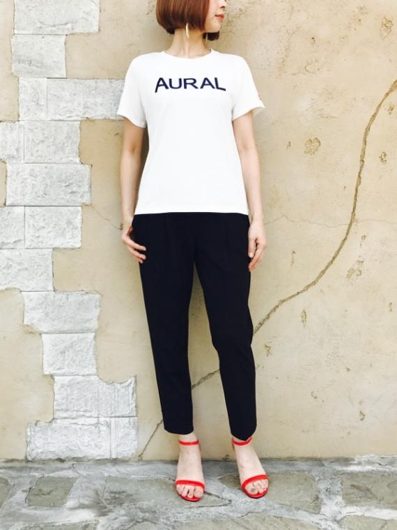 KAENE(カエン)  フロッキーロゴ×リップモチーフ Tシャツ