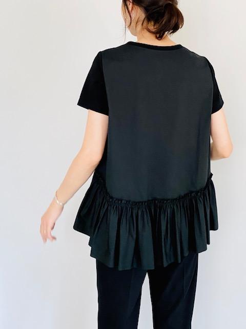 SELECT(セレクト)  異素材裾ギャザーフリルカットソー