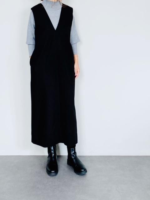 SELECT(セレクト) Vネックロングジャンパースカート  BLACK
