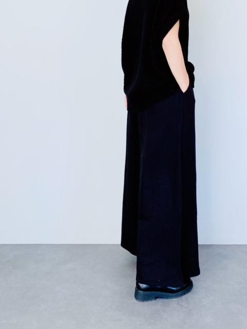 SELECT(セレクト) ミニ裏毛 センターシームワイドパンツ  BLACK