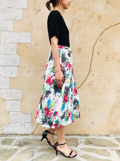 SELECT(セレクト)  フラワープリントフレアースカート