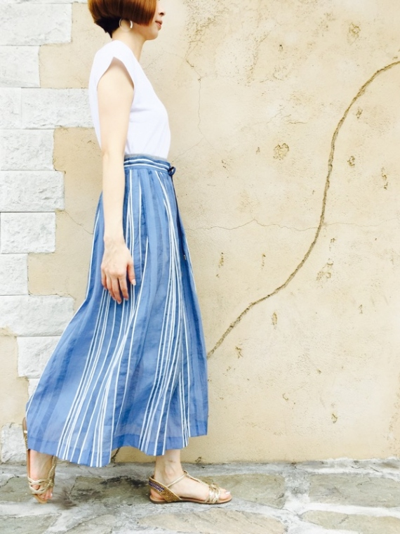 Haru's Ami(ハルズアミ)  マルチストライプ マキシスカート