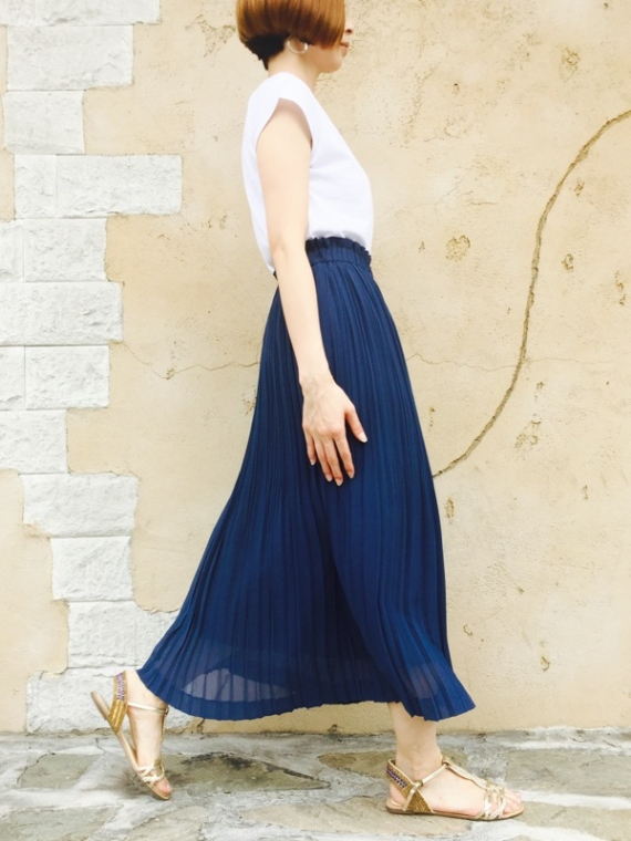 Haru's Ami(ハルズアミ)  ロングプリーツスカート