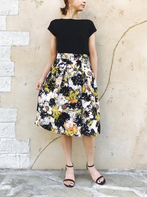 Haru's Ami (ハルズアミ)  花柄フロッキースカート