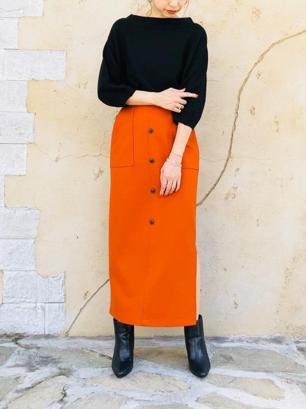 SELECT(セレクト)  フロントボタンタイトスカート