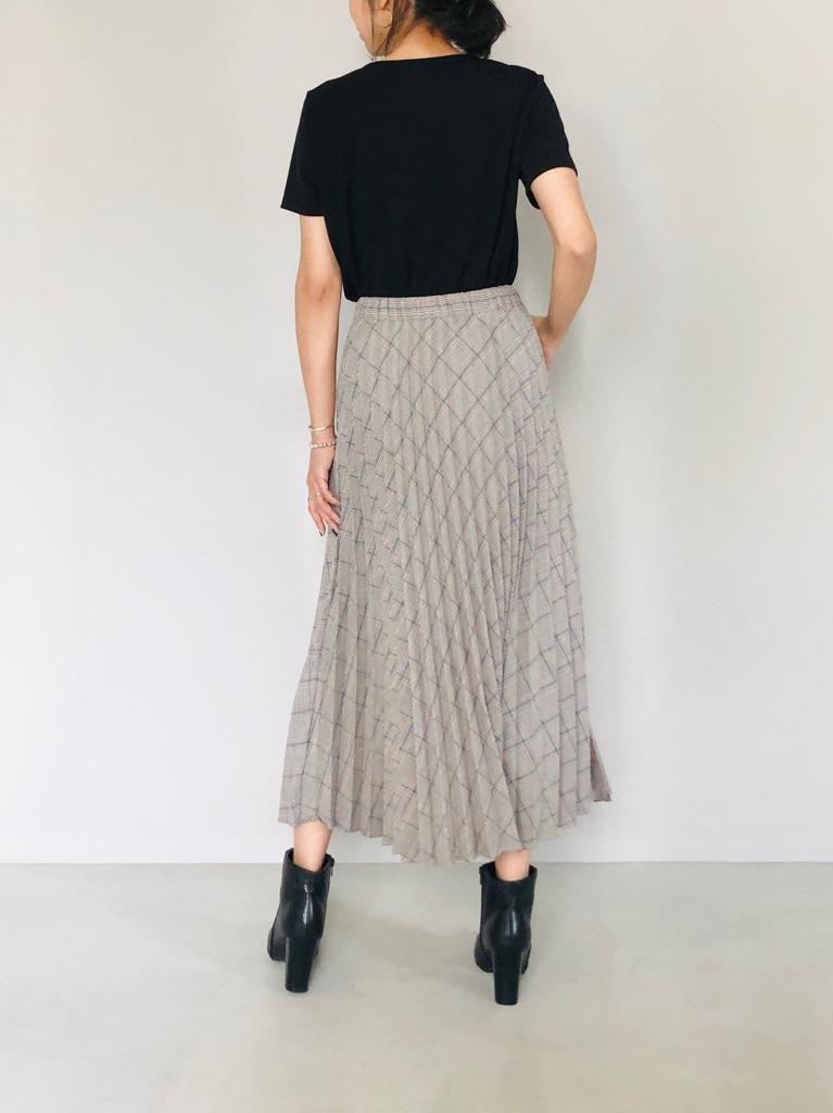 SELECT(セレクト)  チェックプリーツスカート