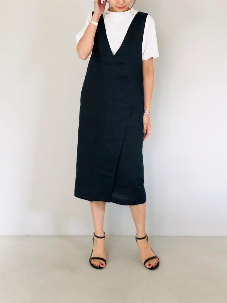 SELECT(セレクト)  リネンタイトジャンバースカート