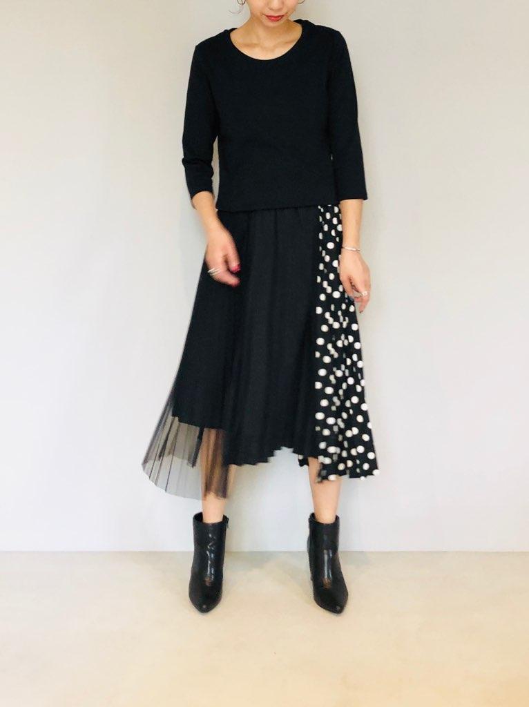 SELECT(セレクト)  パネルプリーツスカート