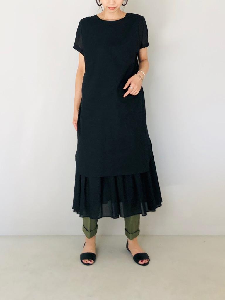 SELECT(セレクト)  フレンチロングシャツドッキングワンピース