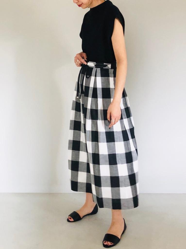 SELECT(セレクト)  ビッグギンガムチェックロングスカート