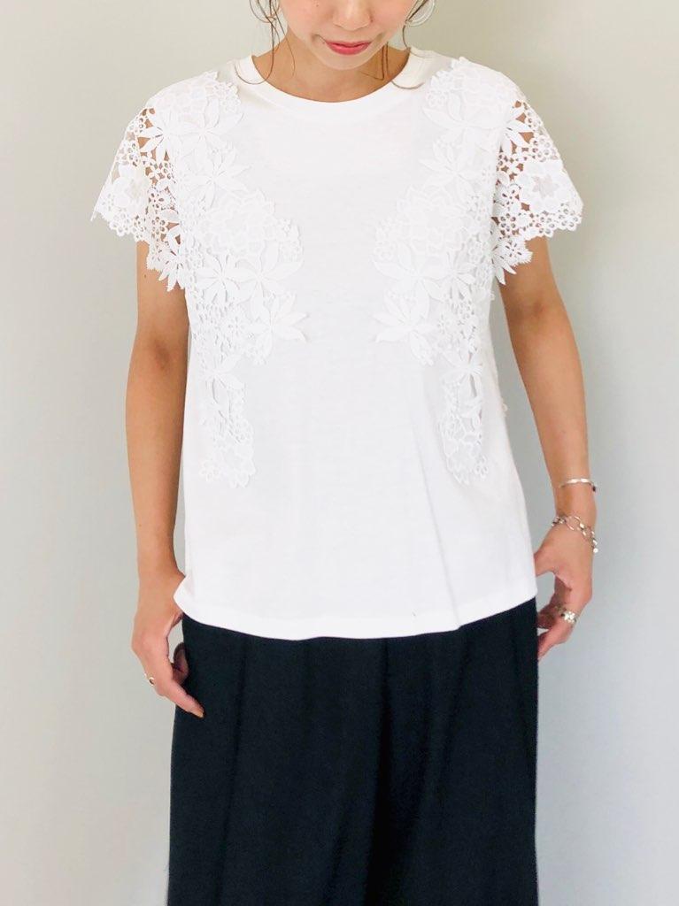 SELECT(セレクト)  袖レースフレンチスリーブプルオーバーTシャツ