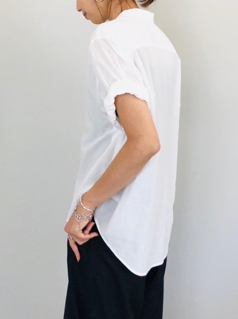 SELECT(セレクト)  ギャザースリーブタックボタン半袖シャツ