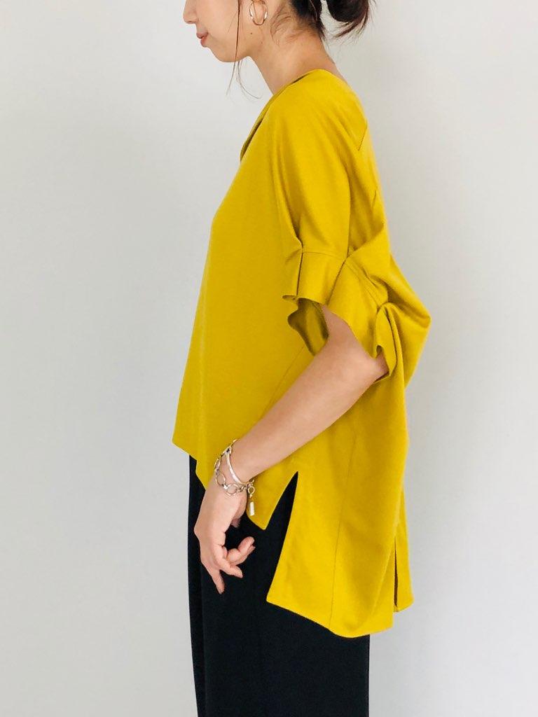 SELECT(セレクト)  袖タック切り替えプルオーバー