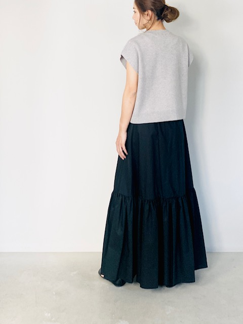 SELECT(セレクト)  ティアードロングスカート  BLACK