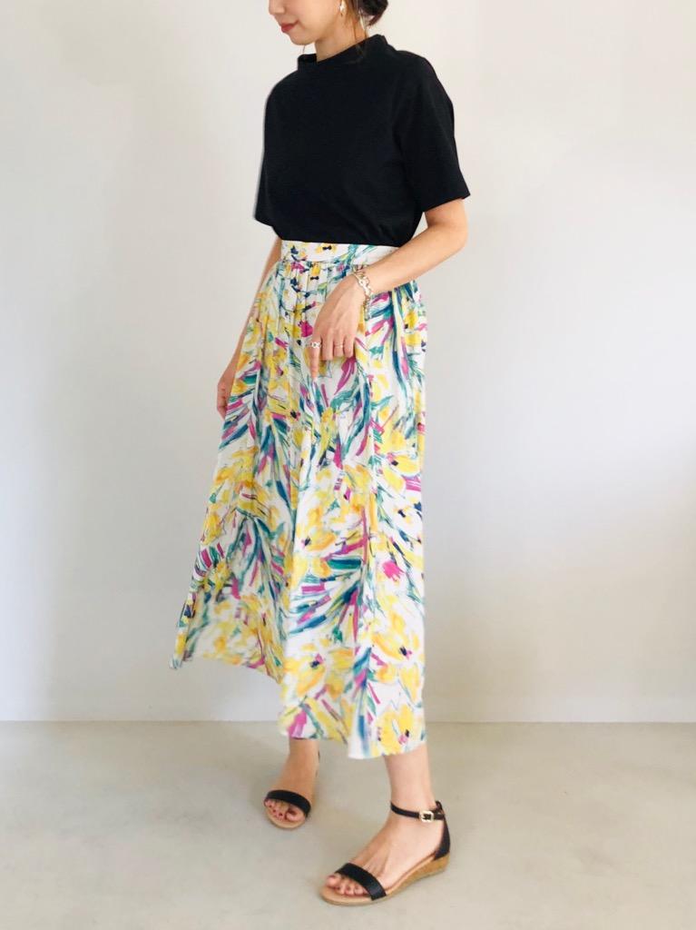 SELECT(セレクト)  トロピカルプリントギャザースカート