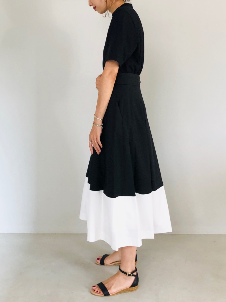 SELECT(セレクト)  バイカラーフレアスカート