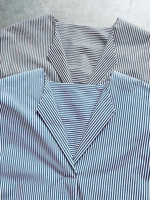 SELECT(セレクト) ストライプ半袖スキッパーシャツワンピ  STRIPE