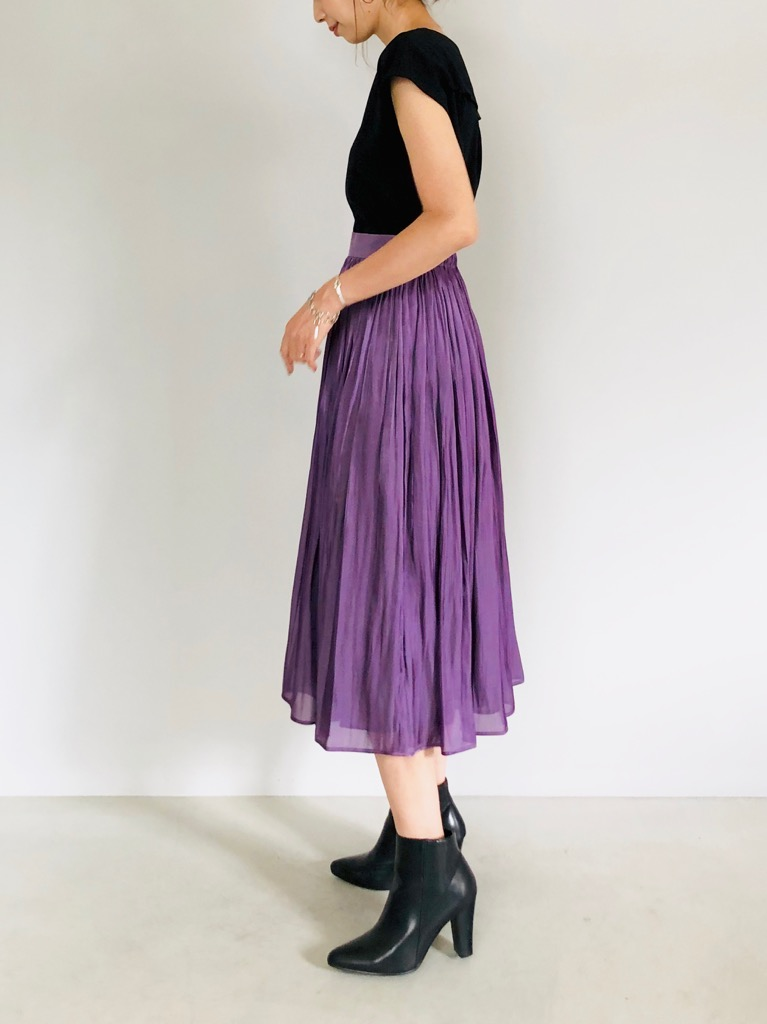 SELECT(セレクト)  キラキラサテンギャザースカート