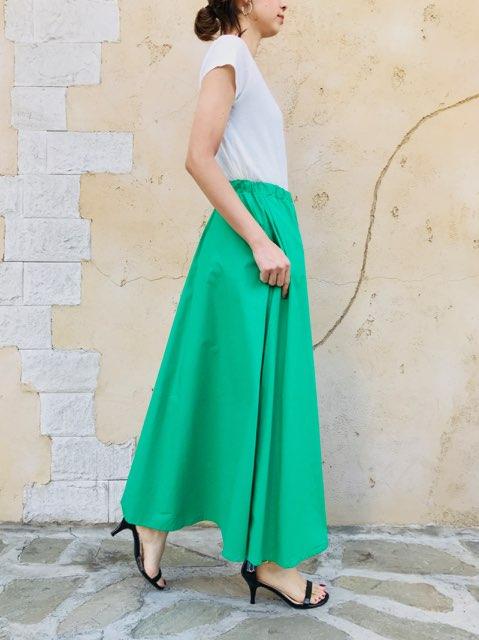 SIRO(シロ)  Aラインカラーロングスカート