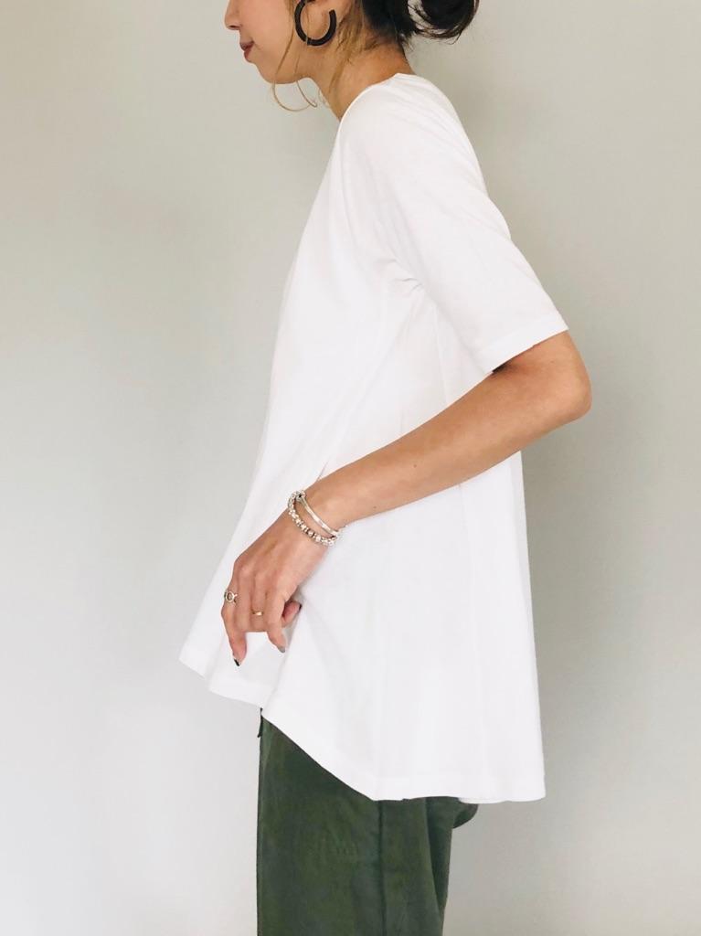 SELECT (セレクト)  ラウンドフレアーTシャツ(ポケット付き)