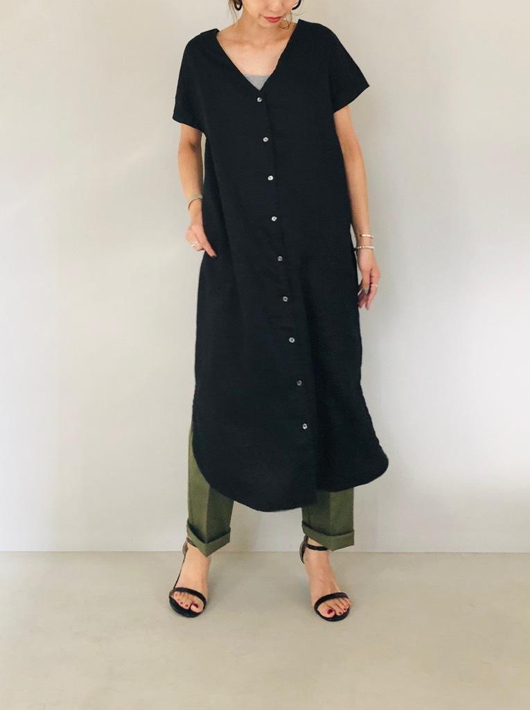 SELECT(セレクト)  2WAYリネン スキッパーシャツドレス