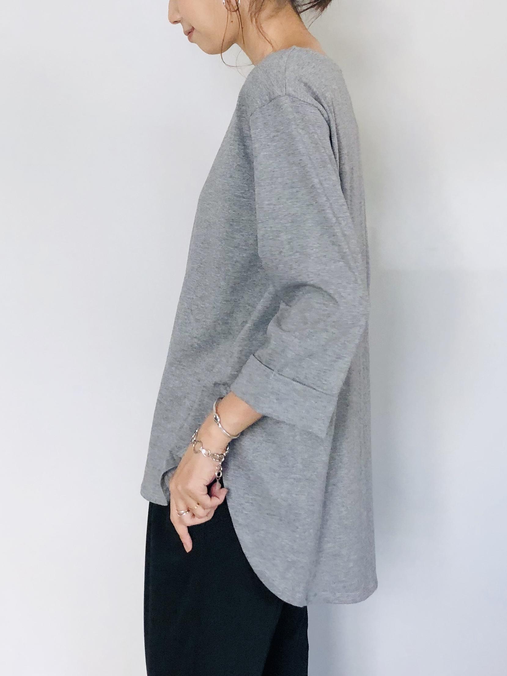 SELECT(セレクト)  裾ラウンド前後差カットロングTシャツ