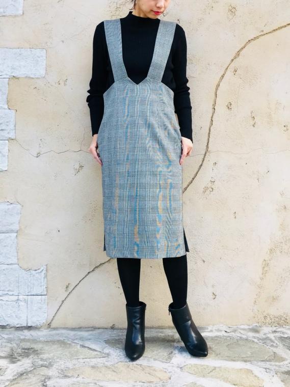 TROIS (トロワ) サイドスリットジャンパースカート