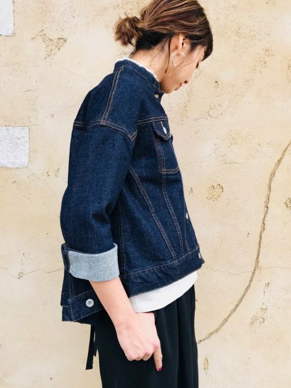 TROIS(トロワ)  chouchou別注バックフレアーデニムジャケット