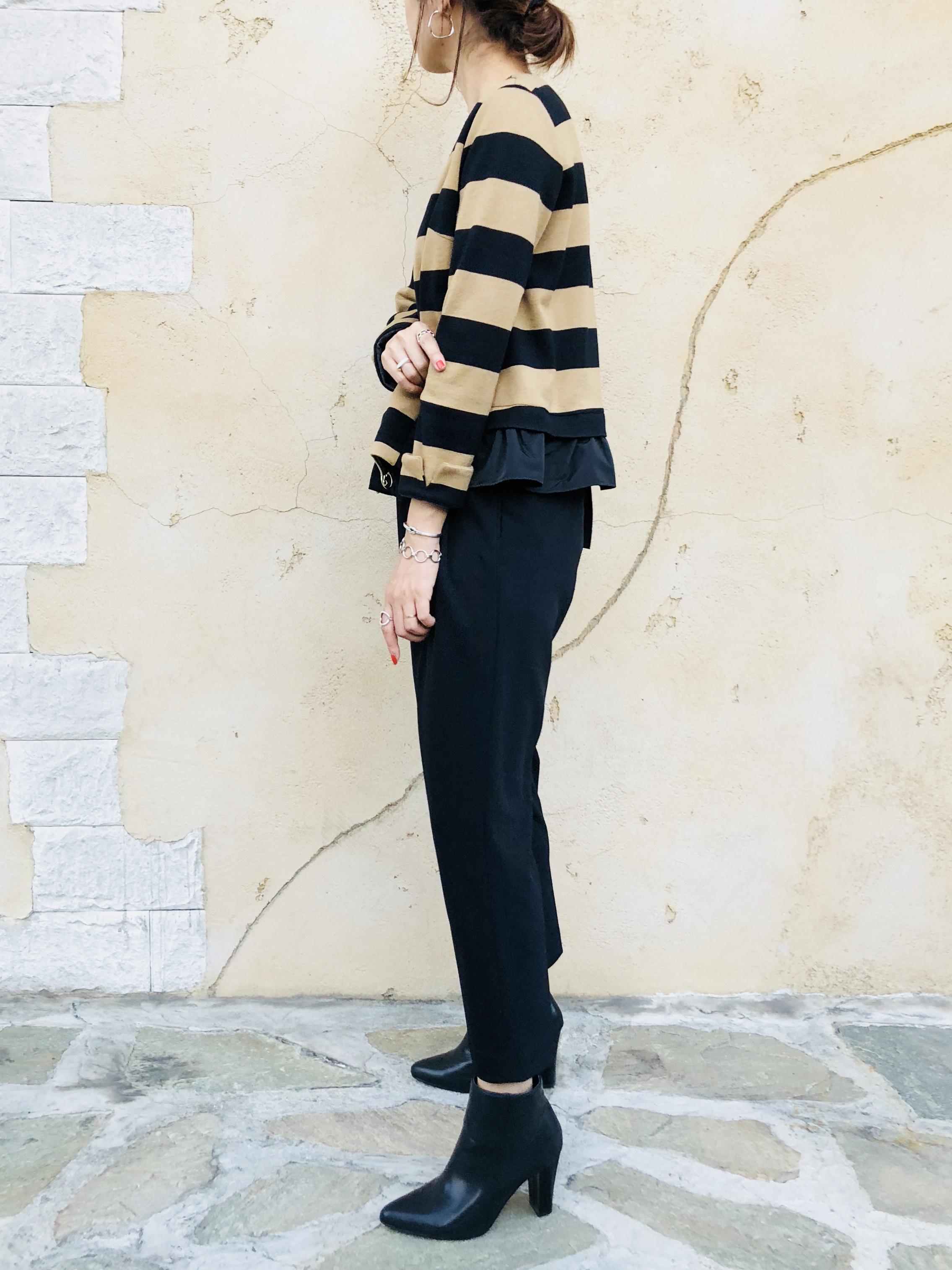 TROIS (トロワ)  裾フリルノーカラージャケット