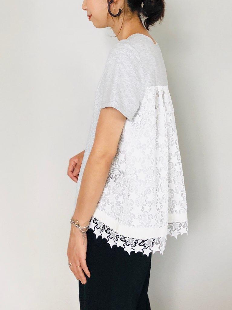 TROIS (トロワ)  スターレースバック切り替えTシャツ