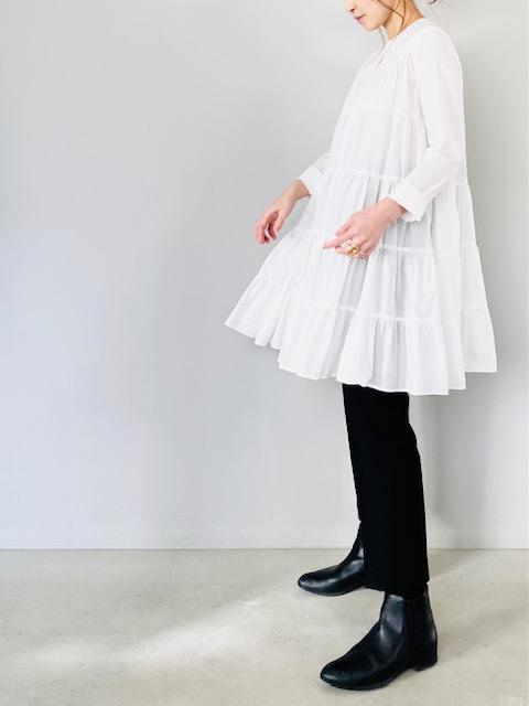 SELECT(セレクト)  ティアードミニワンピース  WHITE