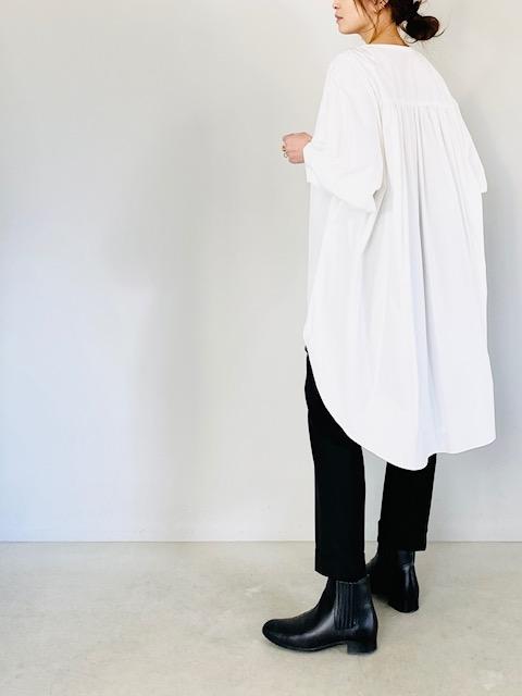 SELECT (セレクト)  比翼ヘンリーネックロングシャツ