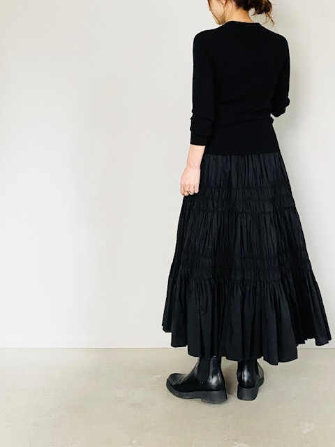 SELECT(セレクト)  シャーリングロングスカート