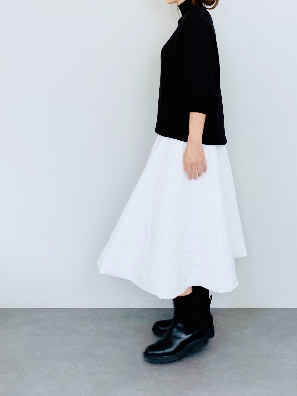 SELECT(セレクト) キルティングフレアスカート  OFWHITE