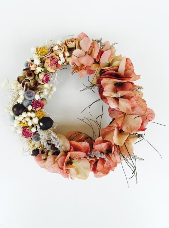 atelier nina (アトリエ ニナ)  Old Rose & 紫陽花のwreathe