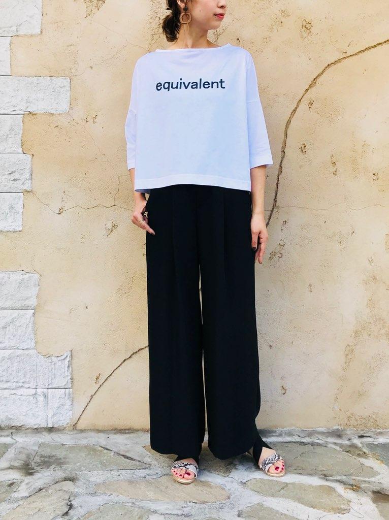 SELECT(セレクト) BIGシルエット ボートネック プリントTシャツ