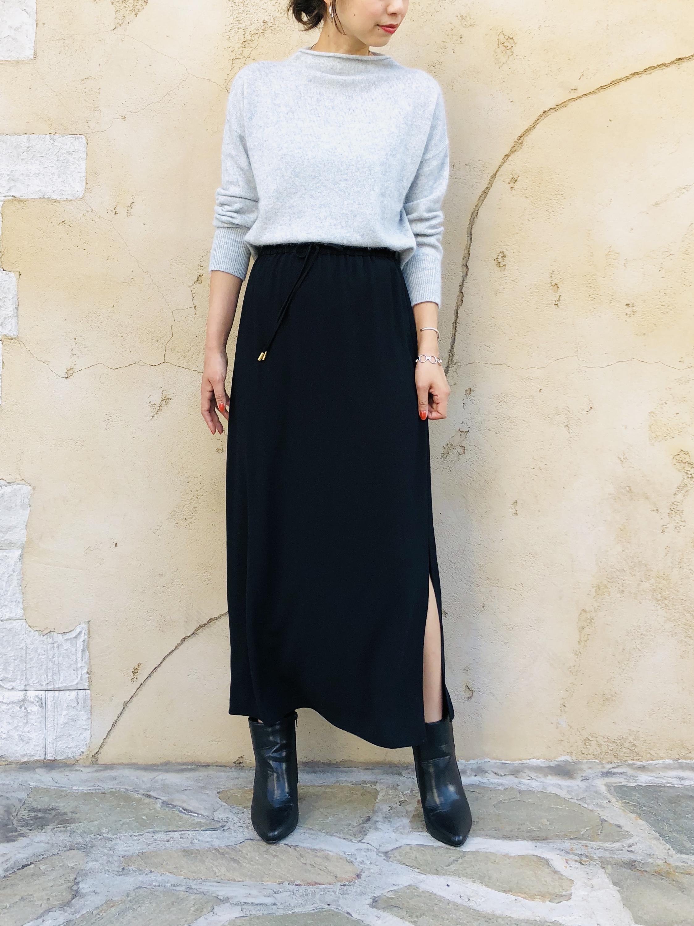 SELECT(セレクト)  ジョーゼットロングタイトスカート