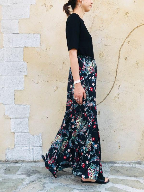 SELECT(セレクト)  フラワーマーメイドロングスカート