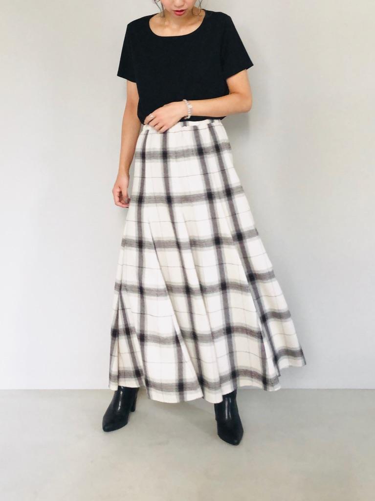 SELECT(セレクト)  チェックマーメイドロングスカート