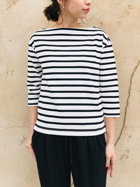 SELECT (セレクト)  7分袖ボートネックTシャツ