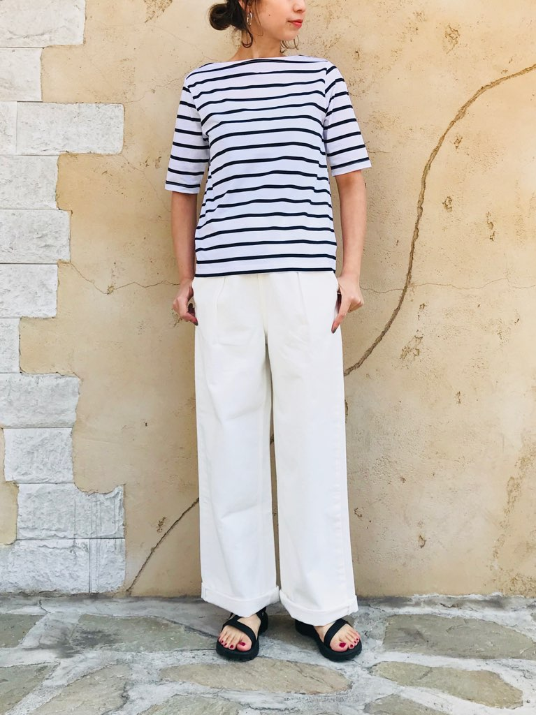 SELECT (セレクト)  5分袖ボートネックTシャツ