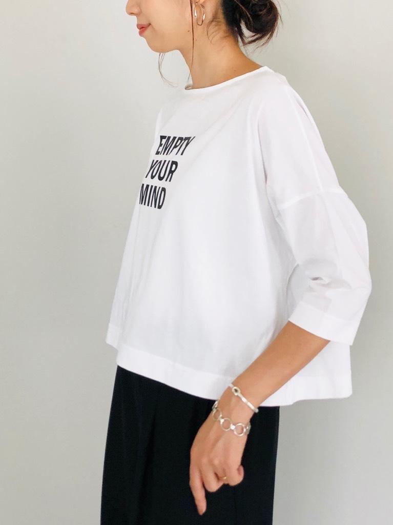 SELECT(セレクト)  EMPTYロゴプリントワイドTシャツ(made in JAPAN)