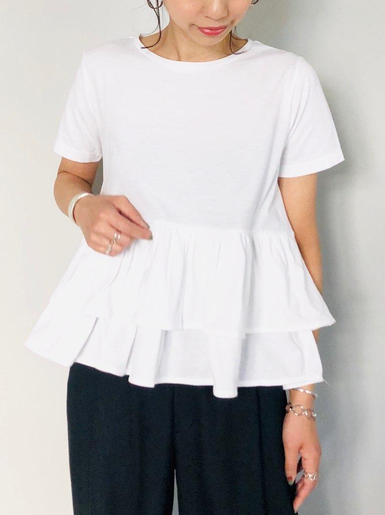 SELECT(セレクト)  コットン裾フリル半袖T-SHIRT